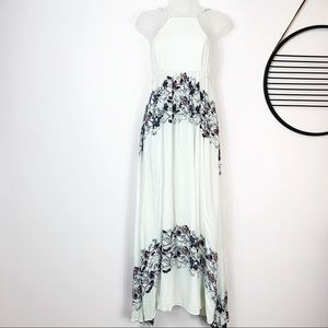 Free People High neck printed floral maxi dress